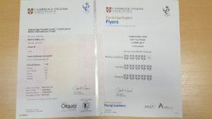 сертификат Cambridge english