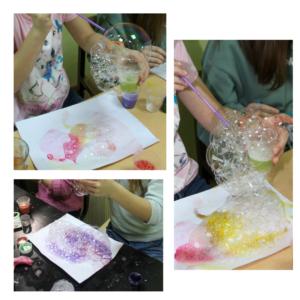 рисование мылными пузырами